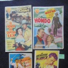 Cine: LOTE 4 FOLLETOS DE MANO CINE SALA AUGUSTA MAHÓN 1954/55. Lote 183782842