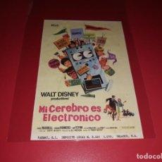 Cine: MI CEREBRO ES ELECTRONICO DE WALT DISNEY . AÑO 1969. Lote 183837767