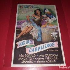 Cine: LOS TRES CABALLEROS DE WALT DISNEY. SIN PUBLICIDAD.AÑO 1944. Lote 183844541