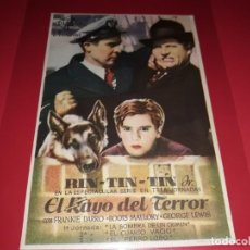 Cine: RIN TIN TIN EL RAYO DEL TERROR. SIN PUBLICIDAD. AÑO 1933. Lote 183845571