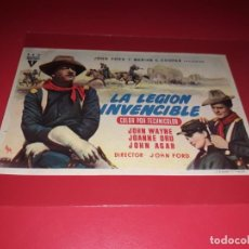 Flyers Publicitaires de films Anciens: LA LEGION INVENCIBLE CON JOHN WAYNE. SIN PUBLICIDAD. AÑO 1949. Lote 183939073