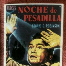 Cine: NOCHE DE PESADILLA. Lote 183976283