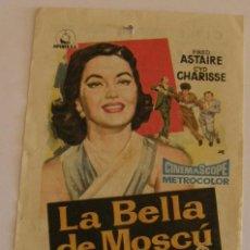 Cine: PROGRAMA DE CINE LA BELLA DE MOSCÚ. Lote 183988346