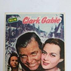 Cine: PROGRAMA DE MANO AÑO 1958 MAS ALLA DEL MISSOURI CLARK GABLE, RICARDO MONTALBAN, JOHN HODIAK. Lote 183995692