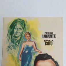 Cine: PROGRAMA DE MANO AÑO 1958 HONRARAS A TU MADRE PEDRO INFANTE, EMILIA GUIU. Lote 183996675
