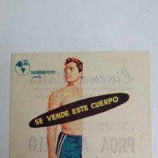 Cine: PROGRAMA DE MANO AÑO 1958 EL IDOLO JOHN DEREK, DONNA REED, DAVID MILLER. Lote 183997047