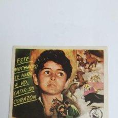 Cine: PROGRAMA DE MANO AÑO 1960 PABLITO Y YO DE WALT DISNEY, PEDRO ARMENDARIZ, ANDRES VELASQUEZ. Lote 183999966
