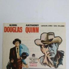 Cine: PROGRAMA DE MANO AÑO 1961 EL ULTIMO TREN DE GUN HILL KIRK DOUGLAS, ANTHONY QUINN, JOHN STURGES. Lote 184003036