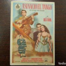 Cine: ASÍ NACIÓ EL TANGO. Lote 184037815