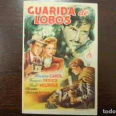 Cine: GUARIDA DE LOBOS. Lote 184043795
