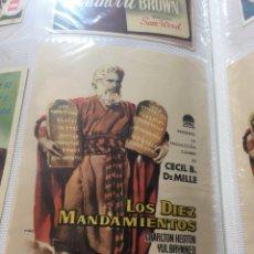 Cine: PROGRAMA DE CINE LOS DÍEZ MANDAMIENTOS SIMPLE. Lote 184195378