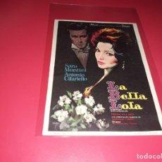 Folhetos de mão de filmes antigos de cinema: LA BELLA LOLA CON SARA MONTIEL. PUBLICIDAD AL DORSO. AÑO 1962. Lote 184197825