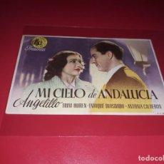 Cine: MI CIELO DE ANDALUCIA. PUBLICIDAD AL DORSO. AÑO 1942. Lote 184202683