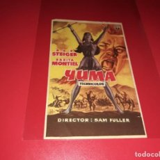 Folhetos de mão de filmes antigos de cinema: YUMA CON SARA MONTIEL. PUBLICIDAD AL DORSO. AÑO 1957. Lote 184218466
