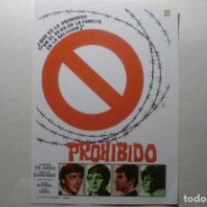 Foglietti di film di film antichi di cinema: REPRODUCCION PROHIBIDO - RODOLFO DE ANDA. Lote 184247328