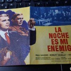 Cine: LA NOCHE ES MI ENEMIGA. 1961. TEATRO VILLAMARTA. Lote 184259203