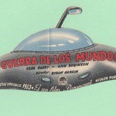 Folhetos de mão de filmes antigos de cinema: LA GUERRA DE LOS MUNDOS. PROGRAMA DE CINE DE 1957 DE SANT SADURNÍ DANOIA.. Lote 184370782