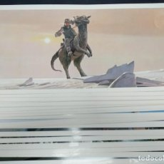 Cine: STAR WARS EMPIRE STRIKES BLACK. RALPH MCQUARRIE PORTFOLIO. 24 LAMINAS.. Lote 184437791