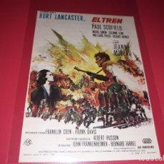 Folhetos de mão de filmes antigos de cinema: EL TREN CON BURT LANCASTER. PUBLICIDAD AL DORSO. AÑO 1964. Lote 184466173