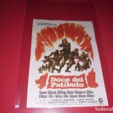Cine: DOCE DEL PATIBULO. PUBLICIDAD AL DORSO. AÑO 1967. Lote 184474465