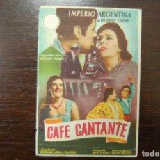 Cine: CAFE CANTANTE. Lote 184475797