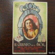 Cine: EL TRIUNFO DEL AMOR-MONUMENTAL CINEMA- JUNIO 1945. Lote 184633377