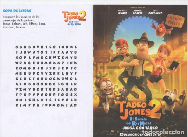TADEO JONES 2 (Cine - Folletos de Mano - Infantil)