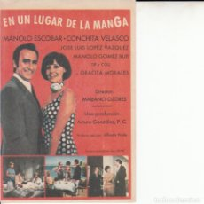 Cine: EN UN LUGAR DE LA MANGA MANOLO ESCOBAR TIP Y COLL CONCHITA VELASCO JOSE LUIS LOPEZ VAZQUEZ. Lote 184762576