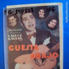 Cine: (PG-190638)PROGRAMA DE CINE - CUESTA ABAJO - CINE RAMBLA. Lote 184785615