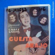Cine: (PG-190637)PROGRAMA DE CINE - CUESTA ABAJO - CINE VIÑES. Lote 184785867