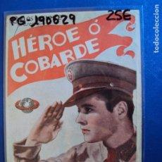 Cine: (PG-190629)PROGRAMA DE CINE - HEROE O COBARDE - CINE RAMBLA. Lote 184786992