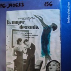 Cine: (PG-190613)PROGRAMA DE CINE - LA MUJER DESNUDA - CINE RAMBLA - AÑO 1933. Lote 184790535