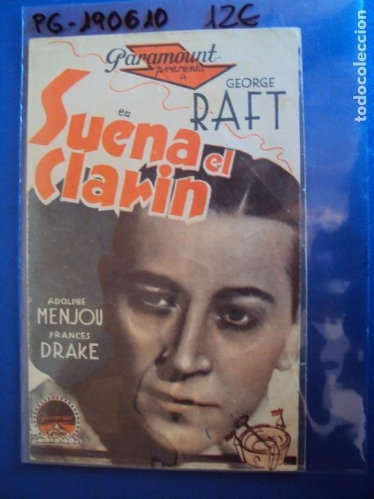 (PG-190610)PROGRAMA DE CINE - SUENA EL CLARIN - CINE RAMBLA - AÑO 1936 (Cine - Folletos de Mano - Comedia)