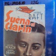 Cine: (PG-190610)PROGRAMA DE CINE - SUENA EL CLARIN - CINE RAMBLA - AÑO 1936. Lote 184790891