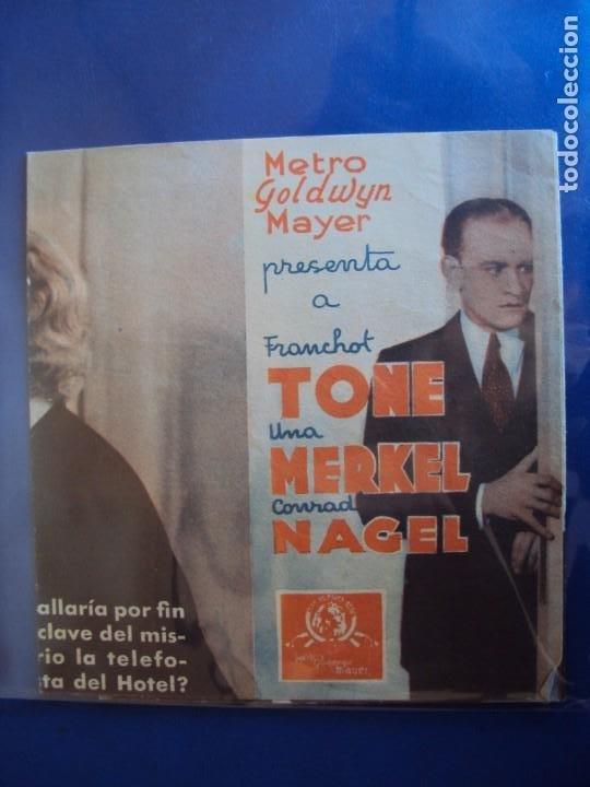 (PG-190605)PROGRAMA DE CINE - EL CUARTO Nº309 - CINE RAMBLA - AÑO 1936 (Cine - Folletos de Mano - Comedia)