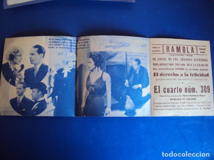 Cine: (PG-190605)PROGRAMA DE CINE - EL CUARTO Nº309 - CINE RAMBLA - AÑO 1936 - Foto 3 - 184791665