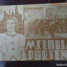 Cine: MELODIAS PORTEÑAS 1939 PUBLICIDAD DEL TEATRO CÍRCULOA MARCOS DISCEPOLO Y AMANDA LEDESMA PIE SEMANA . Lote 184793013