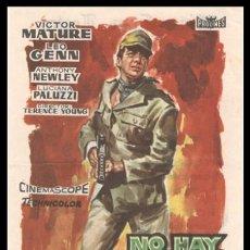 Cine: FOLLETO DE MANO, NO HAY TIEMPO PARA MORIR, VICTOR MATURE, LEO GEEN, ANTHONY NEWLEY Y DEMAS.. Lote 184842657