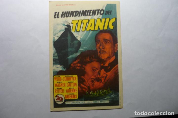 PROGRAMA EL HUNDIMIENTO DEL TITANIC -BARBARA STANWYCK PUBLICIDAD (Cine - Folletos de Mano - Drama)