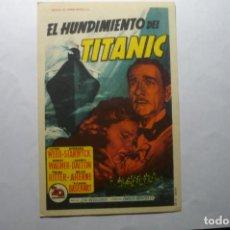 Cine: PROGRAMA EL HUNDIMIENTO DEL TITANIC -BARBARA STANWYCK PUBLICIDAD. Lote 184882031