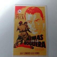 Cine: ALMAS EN LA HOGUERA-PUBLICIDAD. Lote 185604565