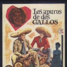 Cine: P-6315- LOS APUROS DE DOS GALLOS (MIGUEL ACEVES MEJÍA - MARCO ANTONIO MUÑIZ - LILIÁN DE CELIS). Lote 185717701