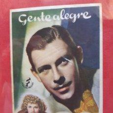 Cine: GENTE ALEGRE-SIN PUBLICIDAD-. Lote 185728585
