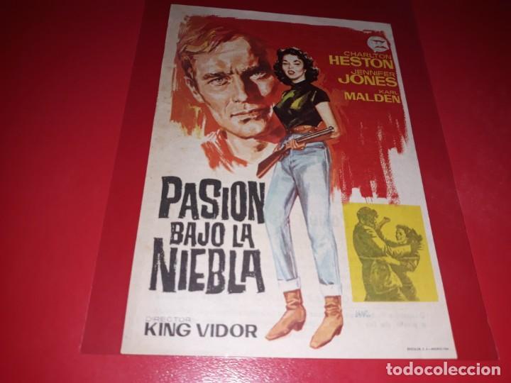 PASION BAJO LA NIEBLA CON CHARLTON HESTON.PUBLICIDAD AL DORSO. AÑO 1952 (Cine - Folletos de Mano - Drama)