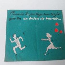 Cine: EN BUSCA DE MARIDO-DOBLE TROQUELADO- SIN PUBLICIDAD. Lote 185877312