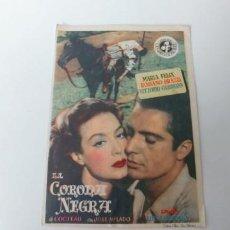 Folhetos de mão de filmes antigos de cinema: LA CORONA NEGRA. Lote 185886497