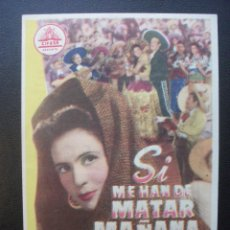 Cine: SI ME HAN DE MATAR MAÑANA, PEDRO INFANTE, MAJESTIC CINEMA. Lote 185916215