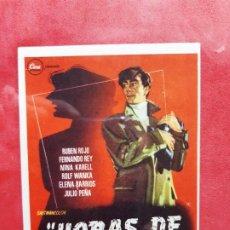 Cine: HORAS DE PANICO-SIN PUBLICIDAD. Lote 185980670