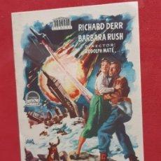 Cine: CUANDO LOS MUNDOS CHOCARON-SIN PUBLICIDAD. Lote 185982480