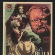 Cine: P-7559- LA BELLA Y LA BESTIA (LA BELLE ET LA BÊTE) (CINEMA BARCELO) JEAN MARAIS - JOSETTE DAY. Lote 185989523